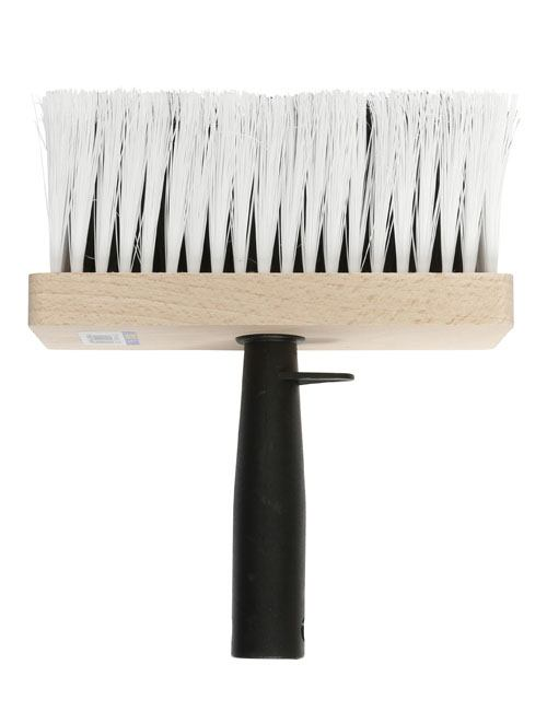 """Emulsion brush with wide 6"""" head and extra long, rugged embedded white bristles"""
